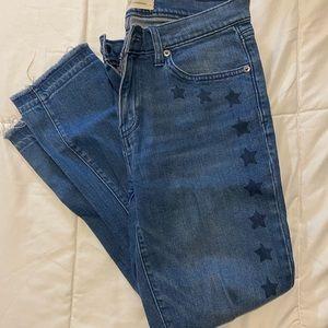 GAP light denim jeans with stars
